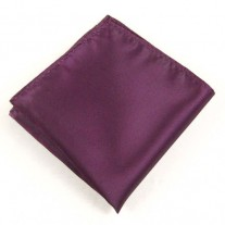 Fox and Luther Plum Pocket Squre