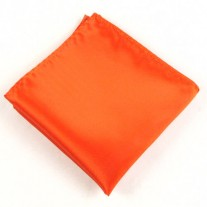 Fox and Luther Bright Orange Pocket Square