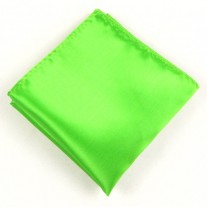 Fox and Luther Luminous Green Pocket Square