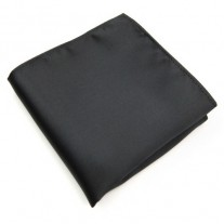 Fox and Luther Men's Black Pocket Square