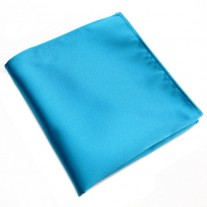 Fox and Luther Bright Blue Male Handkerchief