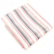 Fox and Luther Fine Stripe Pink Men's Hankie