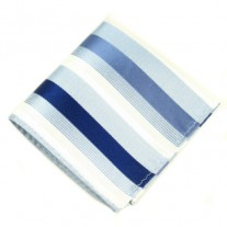 Fox and Luther Blue Striped Men's Pocket Square