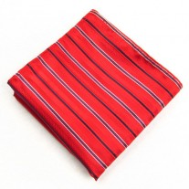 Fox and Luther Bright Red Casino Pocket Square