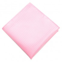 Fox and Luther Thinly Striped Baby Pink Pocket Square