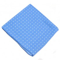 Fox and Luther Baby Blue Polka Pocket Square