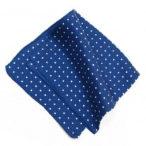 Fox and Luther Deep Blue Polka Square