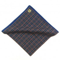 Fox and Luther Blue and Yellow Cotton Pocket Square