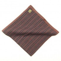 Fox and Luther Burgundy Stripe Cotton Hankie For Men