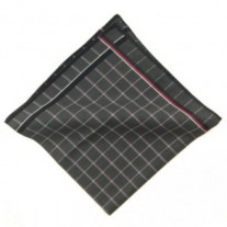 Fox and Luther Luxury Grey Squared Cotton Pocket Square