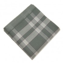 Fox and Luther Grey Tartan Cotton Hankie