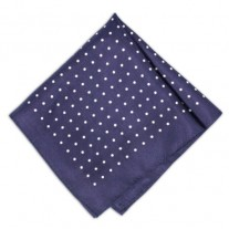 Fox and Luther Blue Diamond Handkerchief