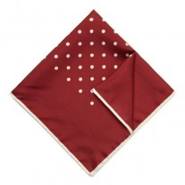 Fox and Luther Deep Red Polka Dot Square