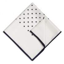 Fox and Luther White Polka Dot Pocket Square