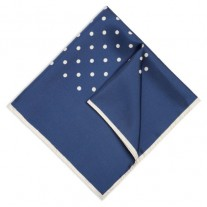 Fox and Luther Royal Blue Polka Square