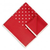 Fox and Luther Red Polka Dot Mens Hankie