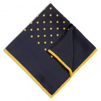 Fox and Luther Yellow Dotted Hankie For Men