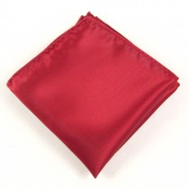 Plain Red Men's Pocket Square