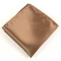Brown Mens Pocket Square