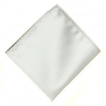 Stripy White Pocket Square