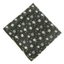 Dark Grey Floral Men's Pocket Square
