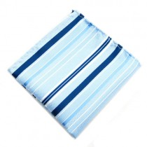 Turquoise Stripe Pocket Square