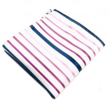 White and Blue Nautical Pocket Square