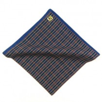 Blue Trim Pocket Square