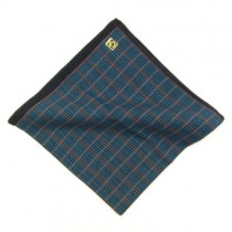 Dark Blue Check Men's Hankie