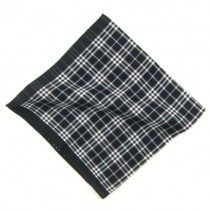 Simple Check Tartan Men's Pocket Square