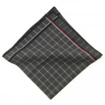 Grey Squared Men's Handkerchief