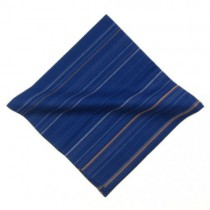 Bright Blue Stripy Pocket Square