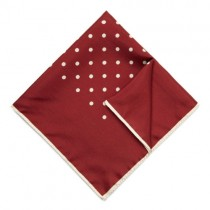 Deep Red Polka Dot Square