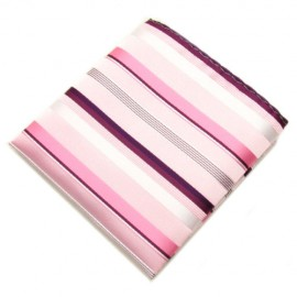 Pink and Purple Striped Hankie