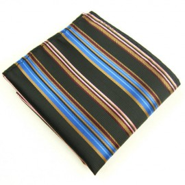 Brown and Blue Stripe Square