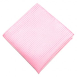 Thinly Striped Pink Pocket Square