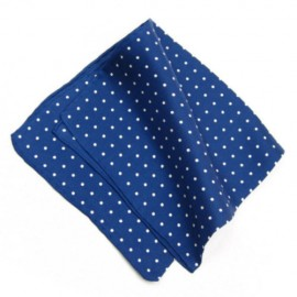 Deep Blue Polka Dot Pocket Square