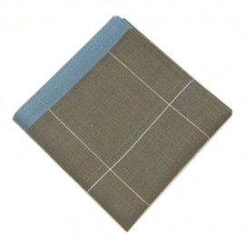Grey Patterned Pocket Square