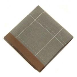 Brown Boarder Pocket Square