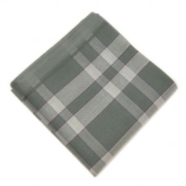 Grey Check Pocket Square For Men