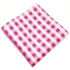 Fox and Luther Pink Maze Pocket Hankie