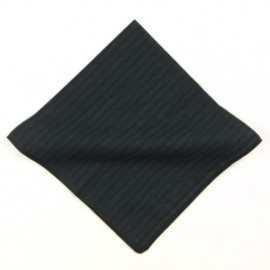 Black Stripe Cotton Pocket Square