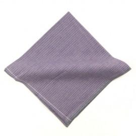 Lavender Stripe Pocket Square