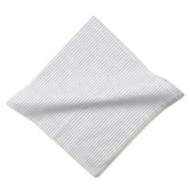 White Stripe Cotton Handkerchief
