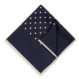 Navy Blue Polka Square