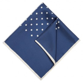 Royal Blue Polka Dot Handkerchief