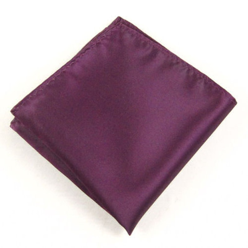 Plumb Coloured Pocket Square For Men