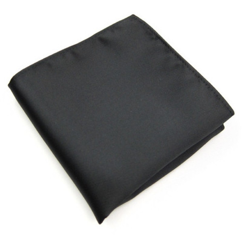 Plain Black Men's Pocket Square