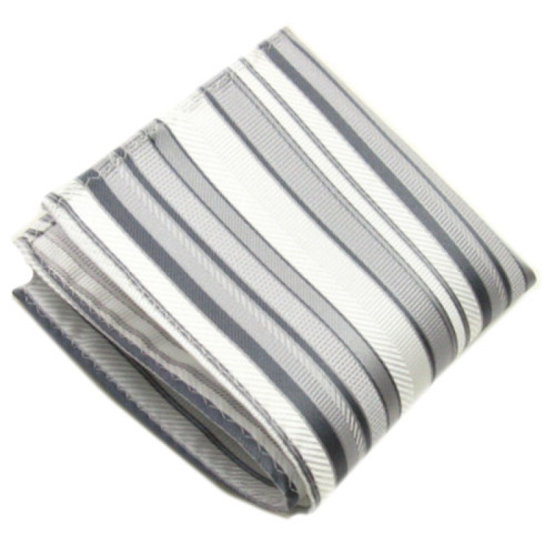 Grey and Silver Stripe Square
