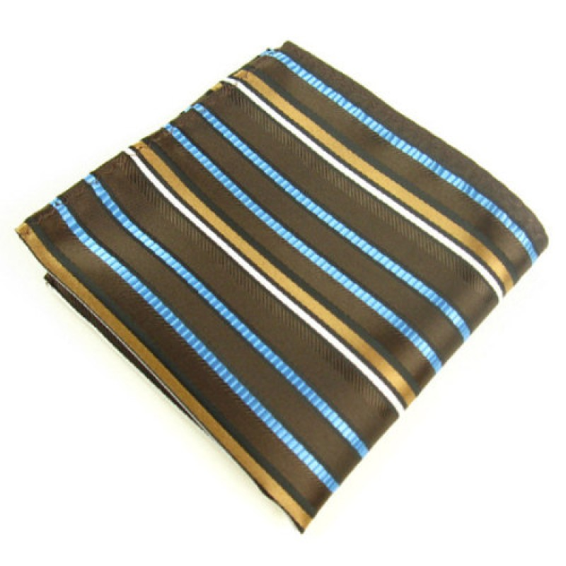 Blue and Gold Stripe Handkerchief